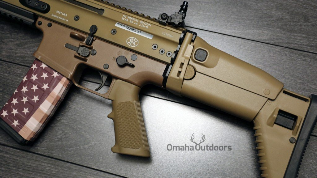 FN SCAR 16S FDE Rear Sight