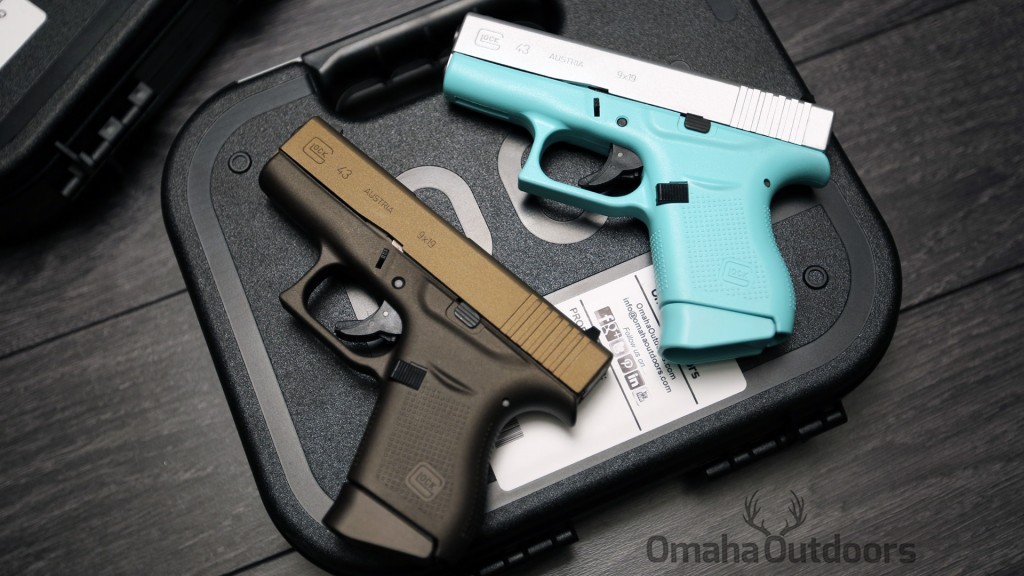 Glock 43 Tiffany Blue & Spartan Bronze