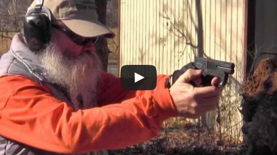 Shooting the Two-Shot 45 ACP/9x19mm Convertible Derringer from DoubleTap Defense Video