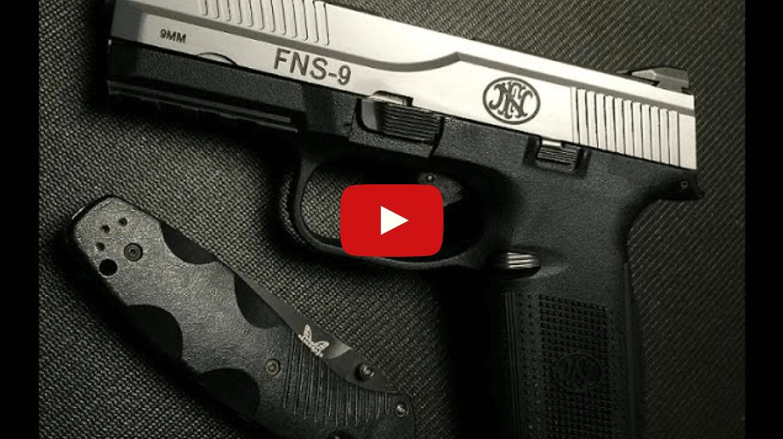 FN Herstal FNS-9 Pistol Review Video
