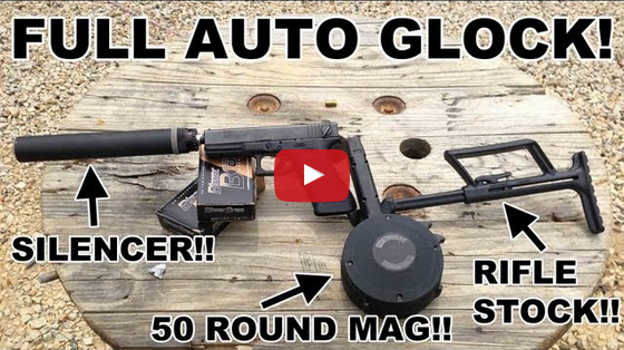 Shooting a Full Auto Glock with Select Fire Suppressed