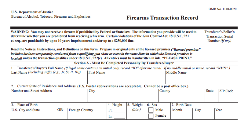 New FFL Form 4473 Imminent - A Change in Background Checks