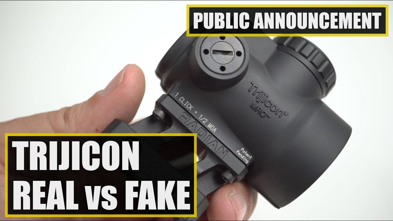 How to Spot Fake Trijicon RMR and MRO Red Dot Sights