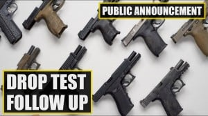Sig Sauer P320 Drop Test Follow Up Video