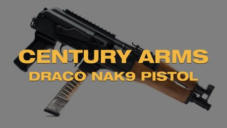Century's New Draco NAK9 AK 9mm Pistol…Yes It Takes Glock