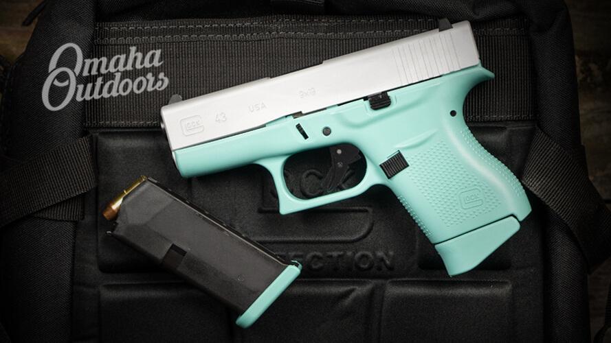 Glock 43 Tiffany Blue Pistol For Sale
